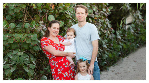 Chiropractors Durham NC James Nall & Cortney Dice with Daughters